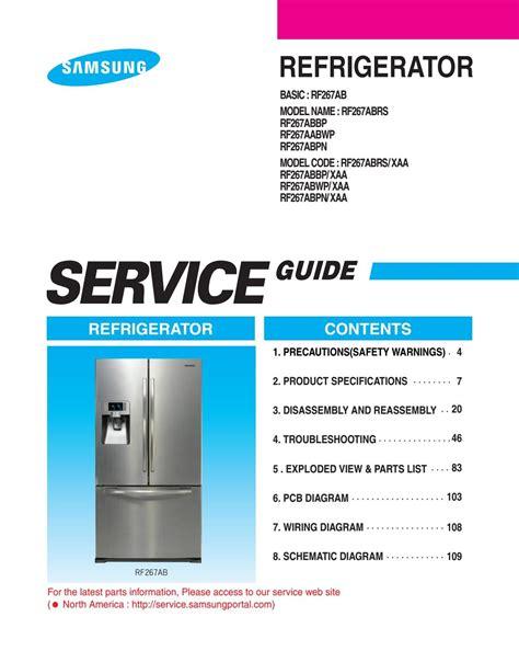 Samsung Rt50mqmsw Service Manual Repair Guide
