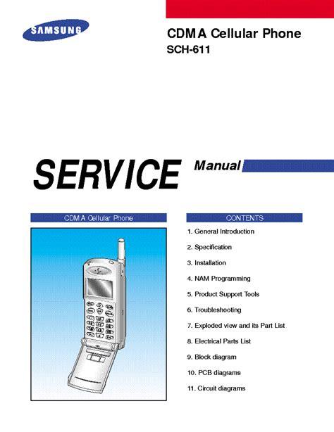 Samsung Sch 611 Service Manual