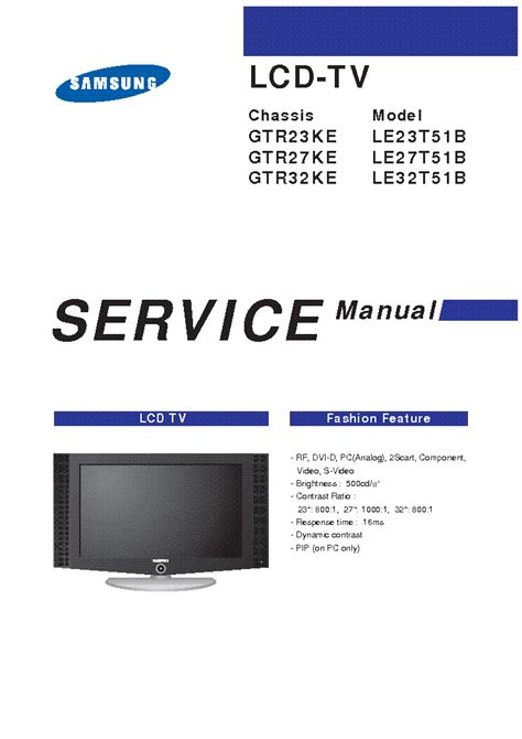 Samsung Tv Owners Manual