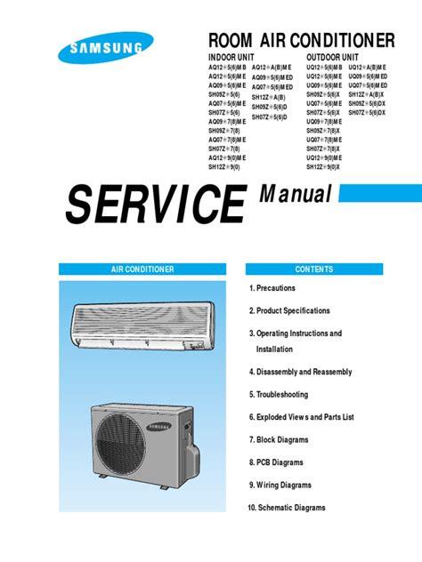 Samsung Window Air Conditioner Service Manual