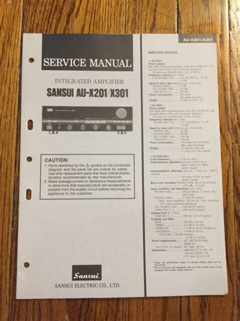 Sansui Au X201 Au X301 Service Manual