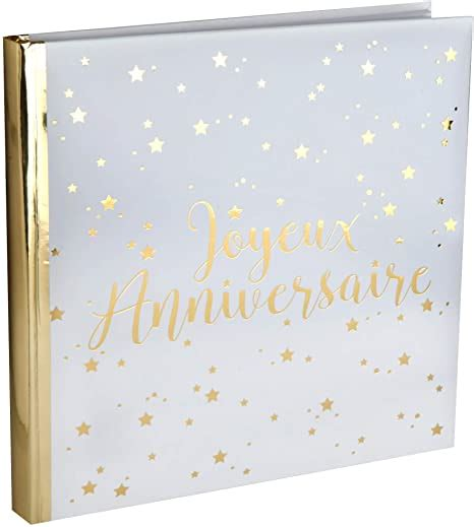 Santex 1 Livre D Or Joyeux Anniversaire Etoiles Or