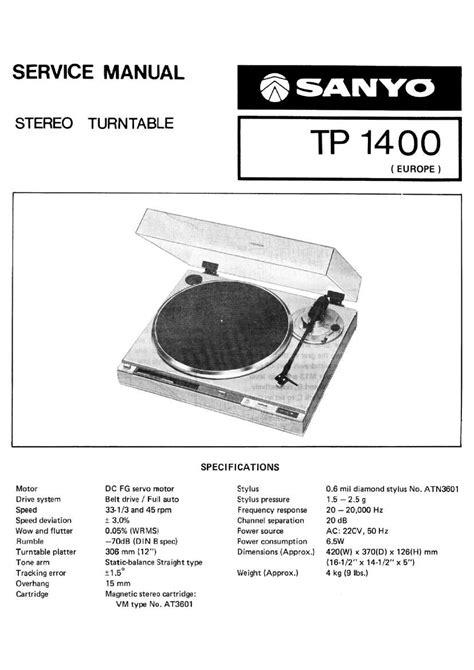 Sanyo Tp 6100 Service Manual 863