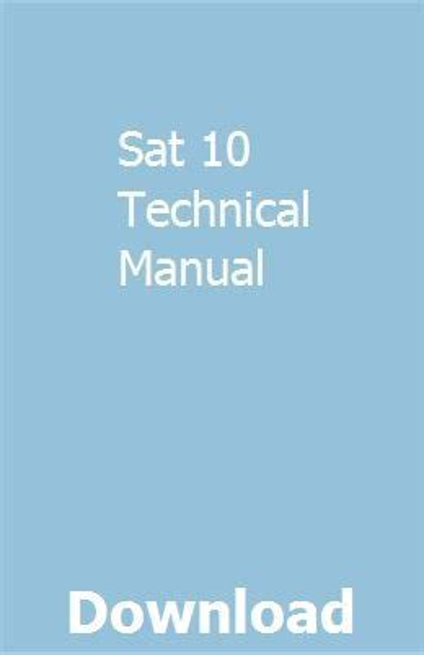 Sat10 Technical Manual