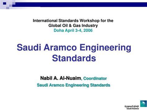 Saudi Aramco Engineering Stards