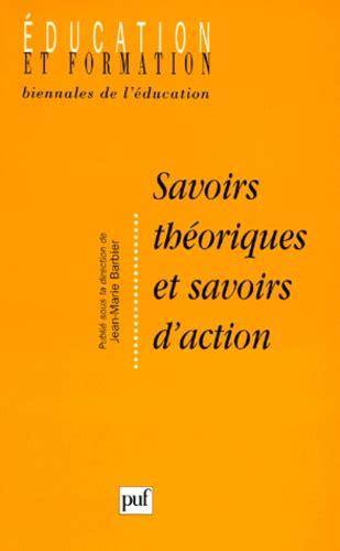 Savoirs Theoriques Et Savoirs Daction