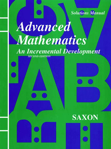 Saxon Advanced Math Second Edition Solutions Manual