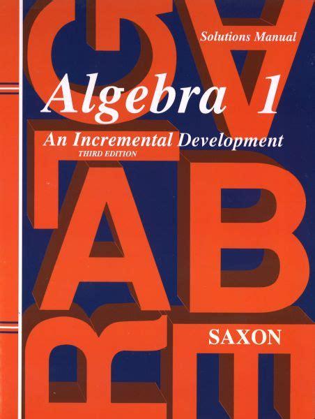Saxon Algebra 1half Solution Manual