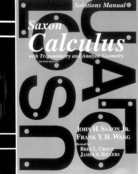 Saxon Calculus Ab Solutions Manual