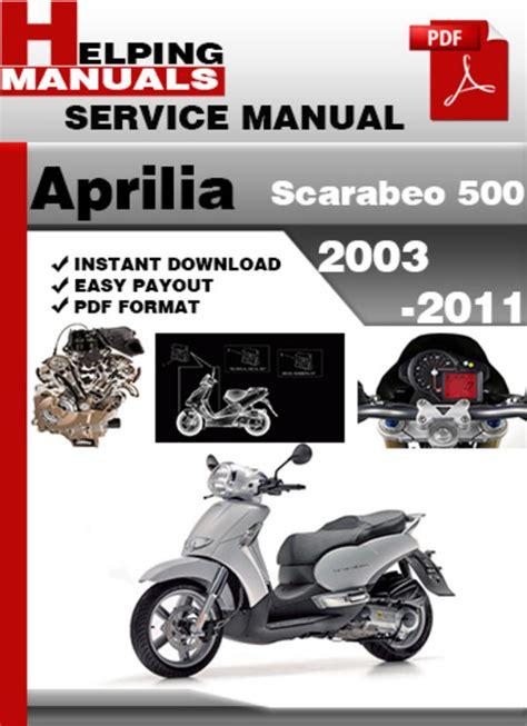 Scarabeo 500 Service Manual