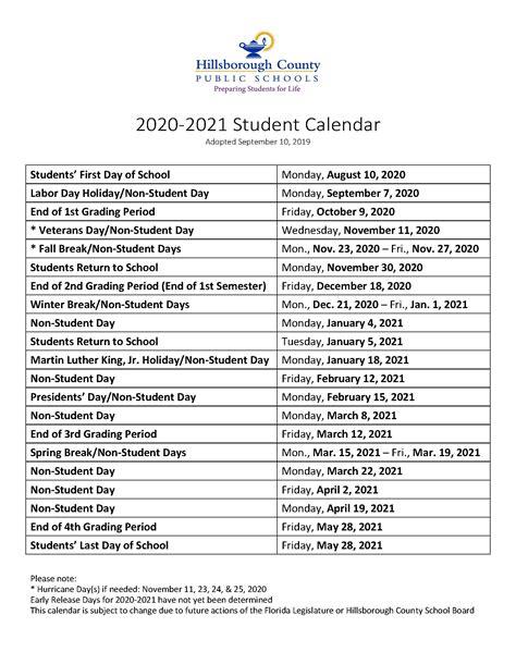 School Calendar Hillsborough County : For Iphone The Initial