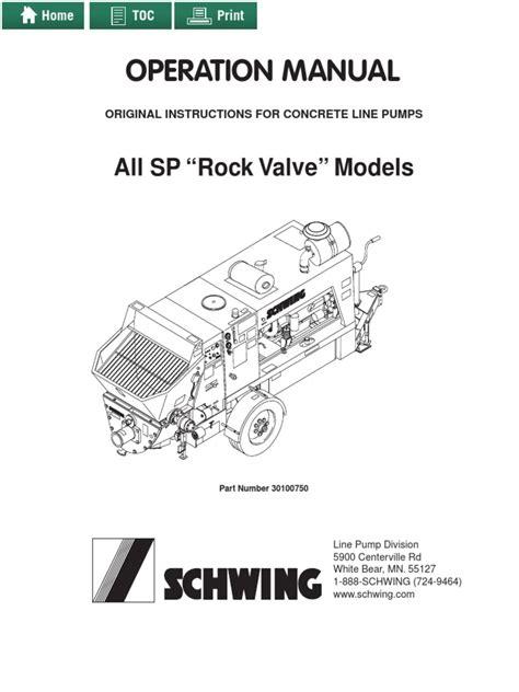 Schwing Concrete Pump Manual