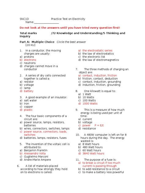 Science Physics Unit 10 Answers Cscope