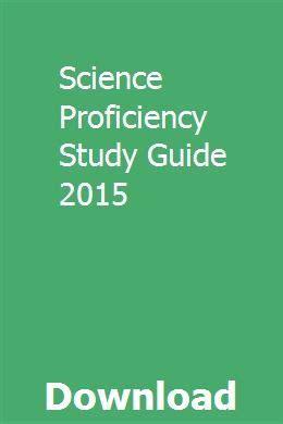 Science Proficiency Study Guide 2016
