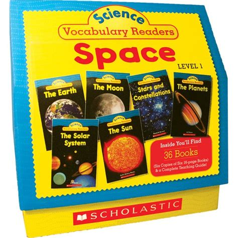 Science Vocabulary Readers Space Exciting Nonfiction Books That Build Kids Vocabularies Includes 36 Books Six Copies Of Six 16 Page Titles Plus A