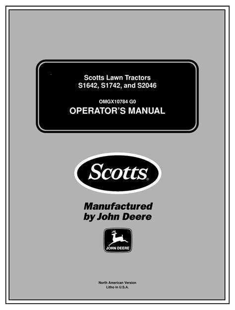 Scotts S1642 Manual