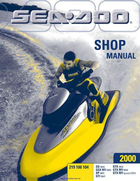 Sea Doo Gs 2000 Workshop Service Manual For Repair