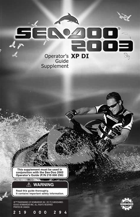 Sea Doo Operators Manual Xp