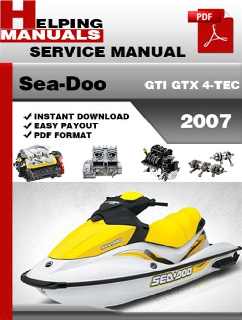 Seadoo Gtx 4 Tech Service Manual