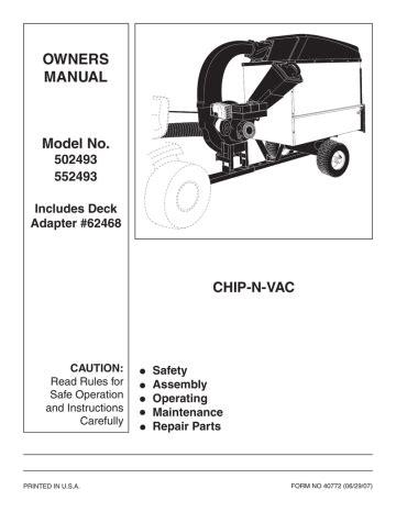 Sears Chipper Manual