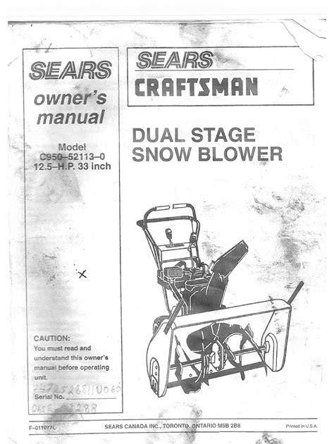 Sears Toolbox Manual