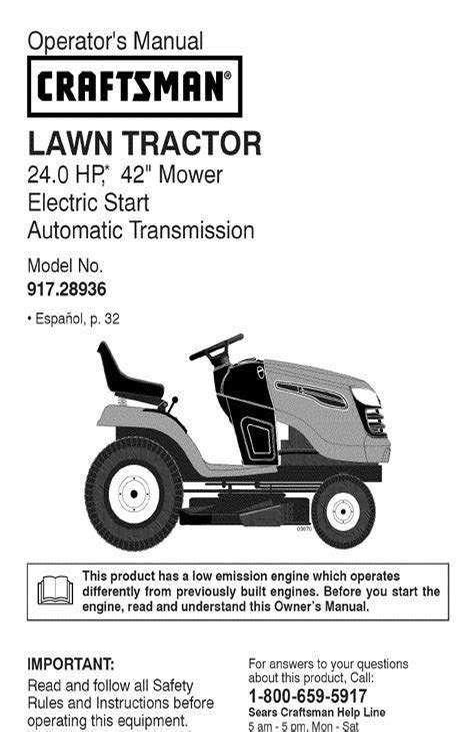 Sears Yt 4000 Manual