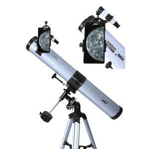 Seben Telescopio Reflector De 900 76 Eq2 Smartphone Adaptador Dka5
