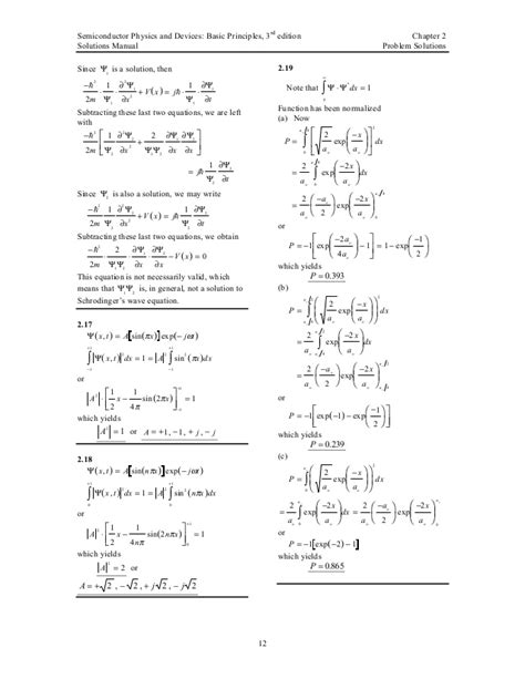 Semiconductor Physics And Devices Neamen Solution Manual