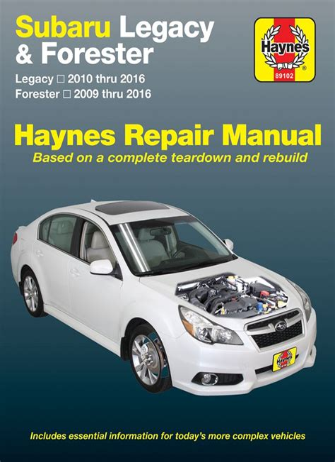 Service And Maintenance Manual For Subaru Legacy