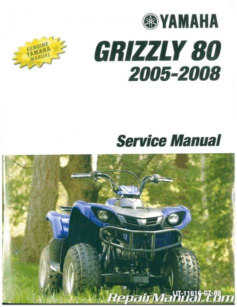 Service Manual 2015 Yamaha Grizzly 80