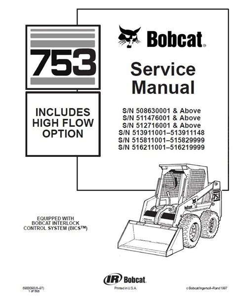 Service Manual 753 Melroe Bobcat