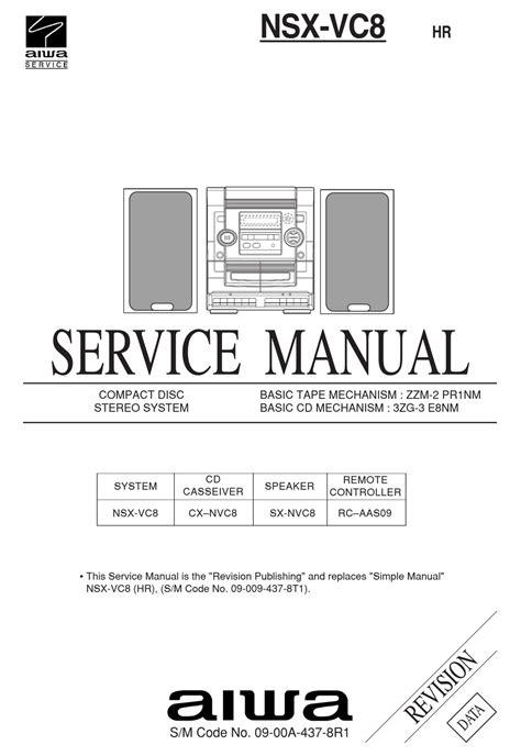 Service Manual Aiwa Nsx Vc28 Cd Stereo System