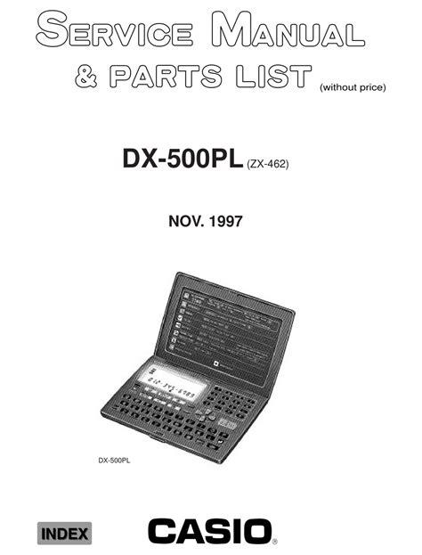 Service Manual Casio Dx 500pl Digital Diary 1997