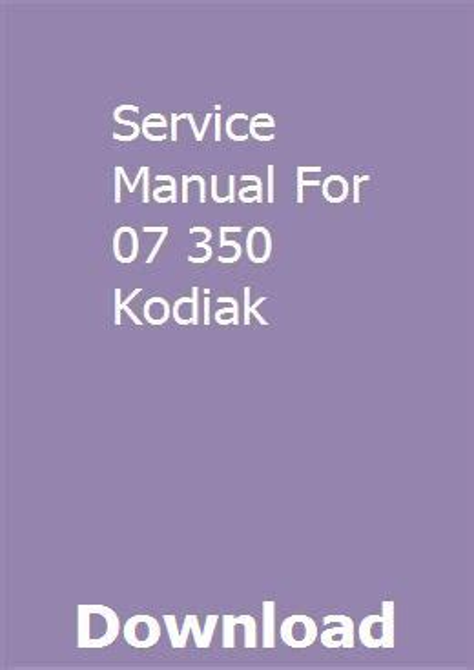 Service Manual For 07 350 Kodiak