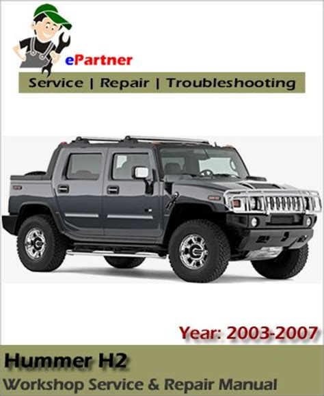 Service Manual For 2003 Hummer H2
