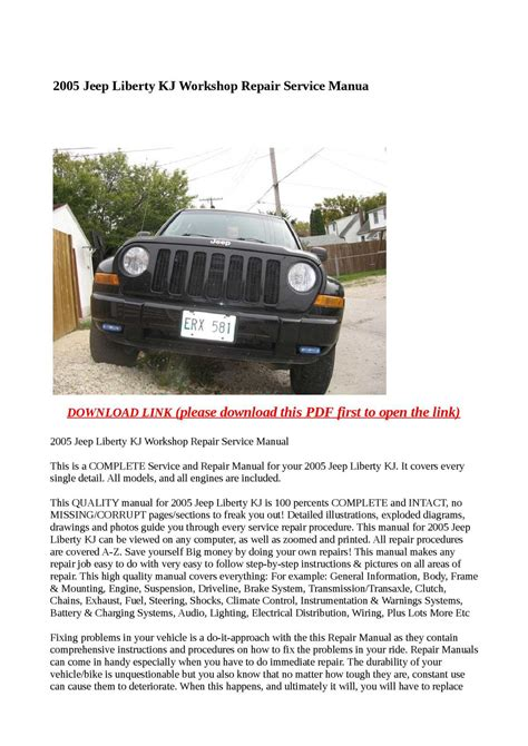 Service Manual For 2015 Jeep Liberty