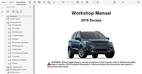 Service Manual For 2018 Ford Escape