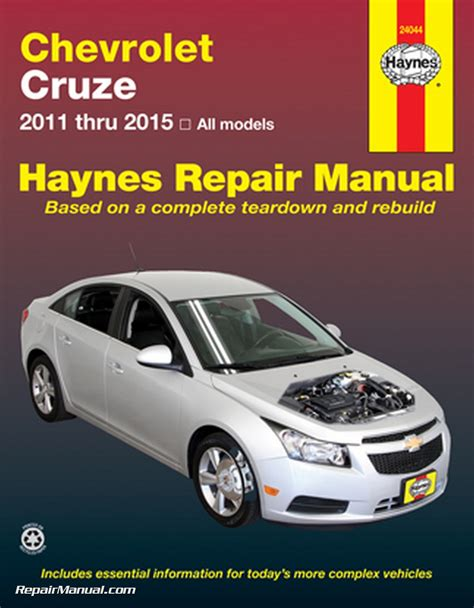 Service Manual For Chevrolet Cruze 2015