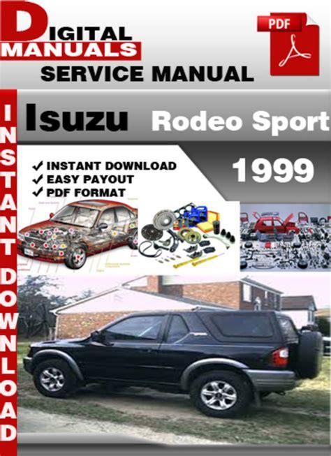 Service Manual For Isuzu Rodeo 1999