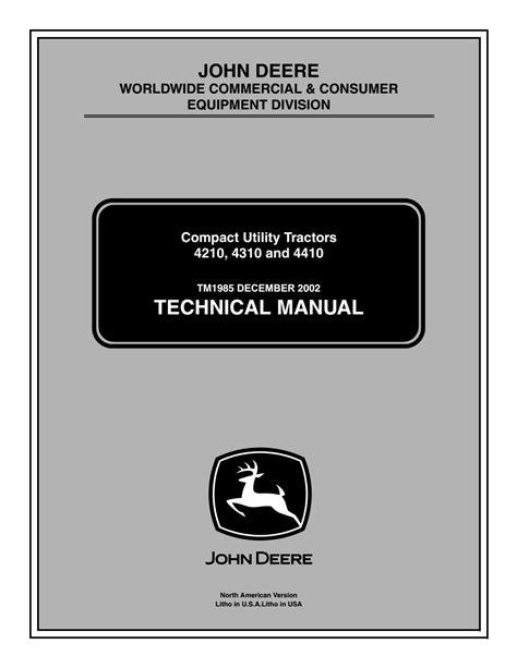 Service Manual For John Deere 4210