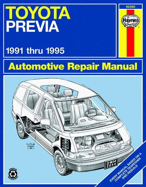 Service Manual For Toyota Previa 2015
