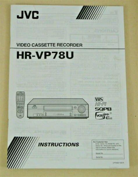 Service Manual Jvc Hr Vp78u Video Cassette Recorder