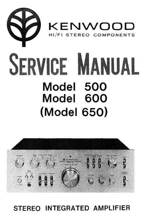Service Manual Kenwood 500