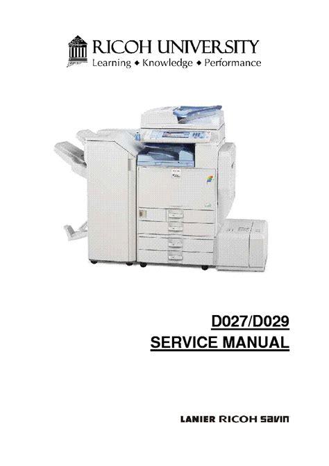 Service Manual Of Ricoh Printer 5000