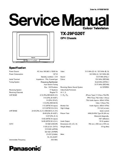 Service Manual Panasonic Tv