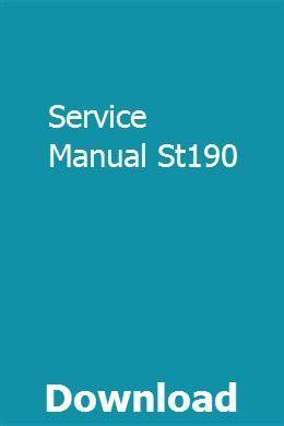 Service Manual St190