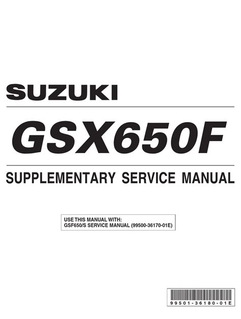 Service Manual Suzuki Gsx650f