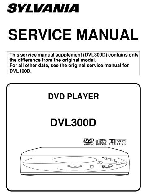 Service Manual Sylvania Dvl300d Dvd Player