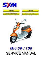 Service Manual Sym Mio 100
