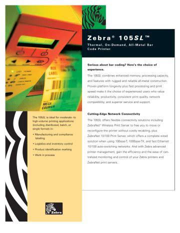 Service Manual Zebra 105 Sl